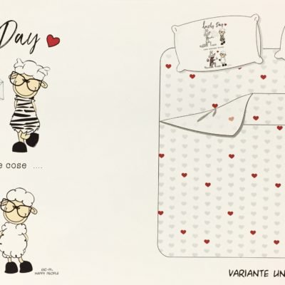 happy people eic pi happy dreams lenzuolo completo letto lovely day matrimoniale una piazza foto