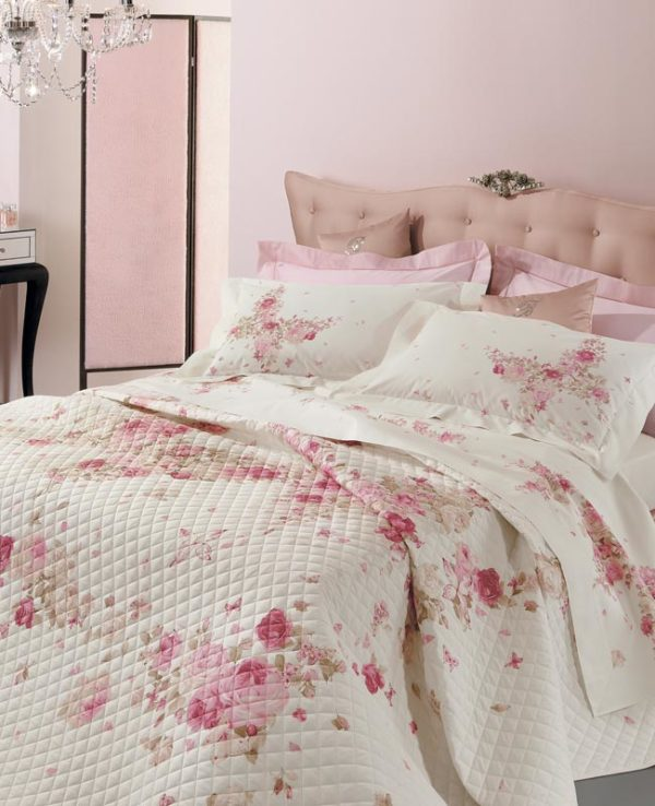 Blumarine copriletto quilt trapuntino BUTTERFLY 100% puro cone percalle made in Italy matrimoniale