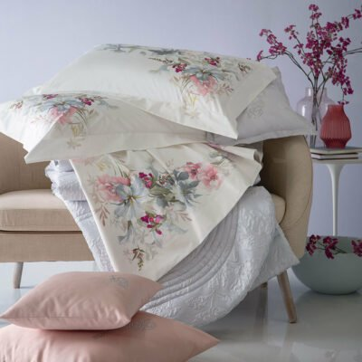 Blumarine Svad Dondi home collection lenzuolo completo letto 100% cotone percalle made in Italy stampa digitale BEATRICE matrimoniale